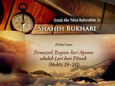 (11) Shahih Bukhari: Termasuk Bagian dari Agama adalah Lari dari Fitnah (Ustadz Badrusalam, Lc.) - YouTube Hadith, Kitab, Signs, Youtube, Shop Signs, Youtubers, Youtube Movies, Sign
