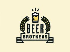 Beer Brothers logo  / repinned on Toby Designs