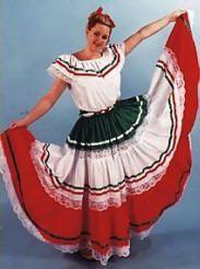 Deluxe Mexican Dancer Costume Deluxe Spanish Dancer