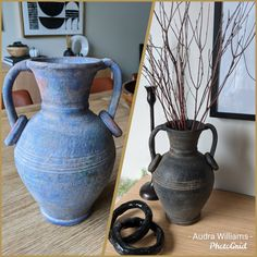Diy Home Accessories, Mud, Thrifting, Diy Crafts, Vase, Projects, Vintage, Black, Home Decor