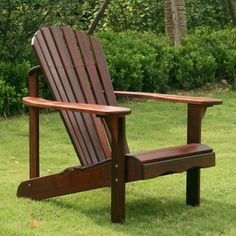 Belham Living Richmond Curveback Shorea Deluxe Adirondack Chair - Adirondack Chairs at Hayneedle