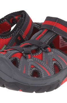 Merrell Kids Hydro (Big Kid) (Grey/Red) Boys Shoes - Merrell Kids, Hydro (Big Kid), MC55688-020, Footwear Closed Slip on Casual, Slip on Casual, Closed Footwear, Footwear, Shoes, Gift - Outfit Ideas And Street Style 2017