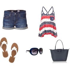 Perfect 4th of July outfit to support my hubby in!! <3 it!!