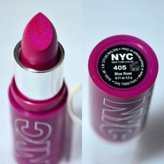 NYC Expert Last Lip Color Blue Rose Review  Swatch - AMAZING MAC Show Orchid Dupe for just £1.99
