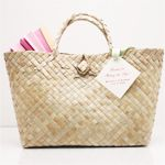 Palm Leaf Handle Bags - Eco-Friendly Wedding Favors - Wedding Favor Themes - Wedding Favors & Party Supplies - Favors and Flowers Favor Bags, Gift Bags, Wedding Welcome Gifts, Destination Wedding Welcome Bag, Personalized Tote Bags, Creative Gift Wrapping, Medium Bags, Hand Weaving, Reusable Tote Bags
