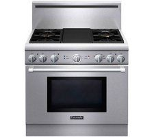 """thermador 36"""" pro dual fuel range with griddle"""