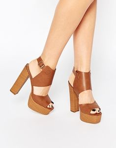 London Rebel Platform Heeled Sandals