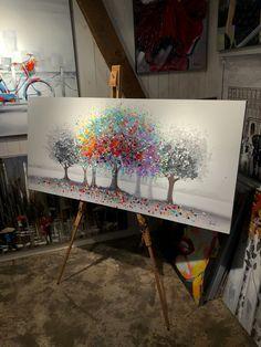 Maleri kunst   AlberoColorate Multo   140x65cm