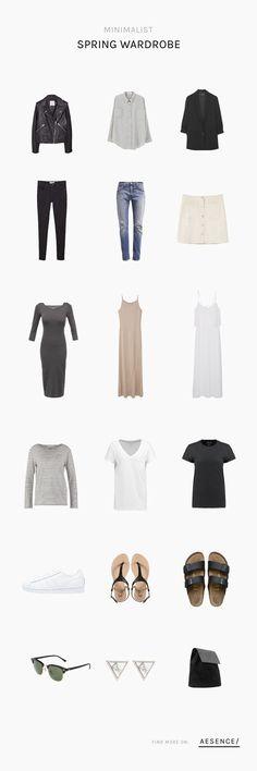Minimalist Spring Wardrobe #wardrobebasicsclassic