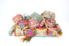 Www.juweline.nl gipsy & bohemian & Ibiza style jewelry webshop!! #feelgood!!  Armando armparty bracelets colourfull pastel pink turquoise morocco India gypsie Please don't use my pictures!