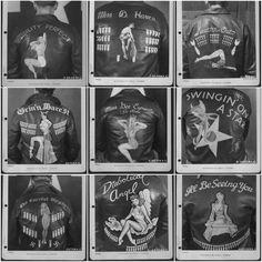 world war 2 personalised bomber jackets. Amazing.