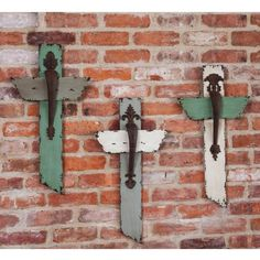 "Set of 3 23"" Assorted Wood and Metal Tranquil Crosses Cape Craftsmen http://www.amazon.com/dp/B00M3C4W16/ref=cm_sw_r_pi_dp_lZqEvb0N44WEC"