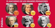 Juicio a los grandes pensadores de la historia por machistas. Suban al estrado por favor