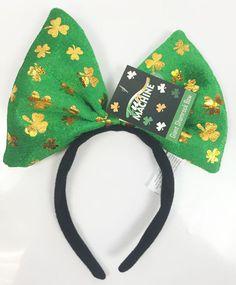 St Patricks Day Irish Headband Bow Leprechaun Fancy Dress Paddys Day Boppers