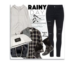 """""""Rainy Day Style..."""" by bamaannie ❤ liked on Polyvore featuring Zara, R13, J.Crew, Santana Canada, Kate Spade, Crate and Barrel, ootd, rainyday and rainydaystyle"""