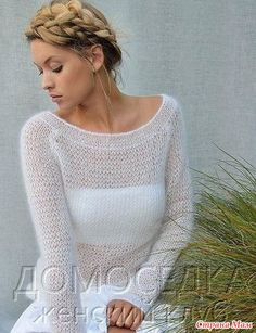 Chic slim knitted Ebb pullover by Kim Hargreaves. Discussion on LiveInternet - The Russian Online Diaries Service Knitting Machine Patterns, Knit Patterns, Knitwear Fashion, Knit Fashion, Mode Crochet, Knit Crochet, Knit World, Angora, Knitted Coat