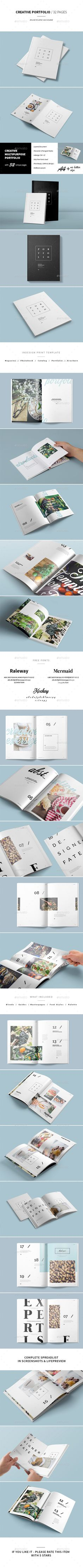 Multipurpose Portfolio Brochure Template InDesign INDD. Download here: http://graphicriver.net/item/multipurpose-portfolio/16152790?ref=ksioks