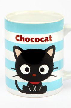 Invite #Chococat to tea! ...#kawaii #coffee mug ~ Join #cat lovers & Purchase Ozzi Cat Magazine http://OzziCat.com.au