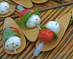 Italian Splash Pipette - the CuisinEtc Catering + Special Events   take on the traditional caprese skewer