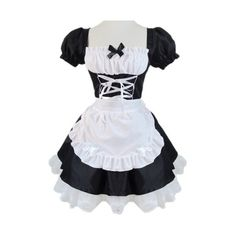 Waitress full set cute cosplay costume maid (maid clothes apron ❤ liked Maid Outfit Cosplay, Cute Cosplay, Cosplay Costumes, Anime Outfits, Cute Outfits, French Maid Dress, Pink Bridesmaid Dresses, Wedding Dresses, Accesorios Casual