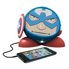 These Marvel Rechargeable Speakers look great and they are ready to rock your music. You can choose from Captain America, Iron Man, or the Incredible Hulk.  All are compatible with audio sources that have a standard 3.5mm audio jack.