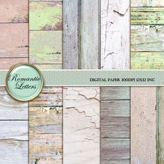 Digital Paper Wood Digital Scrapbook Wood by RomanticLetters