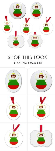 """""""Bulgarian Angel Flag Ornaments"""" by auntieshoe ❤ liked on Polyvore featuring interior, interiors, interior design, home, home decor, interior decorating, Bulgaria and christmasornaments"""