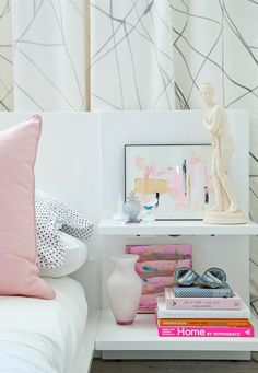 Bedroom shelf styling