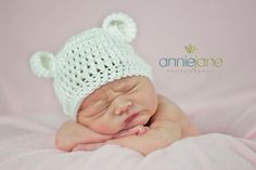 Baby Bear hat  for Newborn to 18 months  Bitty by BellesBluffworks, $7.95
