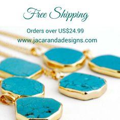 Enjoy free worldwide shipping on orders over US$24.99 - handmade whimsical jewelry!
