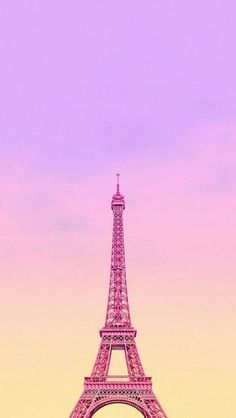 "The Tour Eiffel is genuinely a sign of Paris. It is the most recognizable feature of the city and, in reality, the world. Found in the arrondissement, the Eiffel Tower was a marvel of ""modern"" engineering. Pink Paris Wallpaper, Ombre Wallpaper Iphone, Pink And Black Wallpaper, Ombre Wallpapers, Sunset Wallpaper, Pretty Wallpapers, Galaxy Wallpaper, Of Wallpaper, Flamingo Wallpaper"