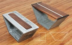 Concrete Coffee Tables You Can Buy Or Build Yourself #concretefurniture