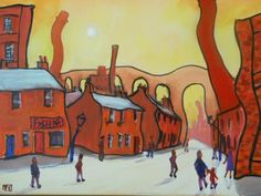 northen cotton town - Painting by Emma Chippendale at touchtalent 7343