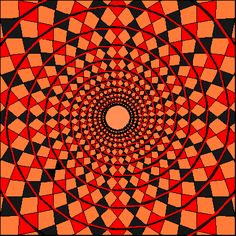 Look closely at this image... Do you see a spiral? Actually, these are a bunch of independent circles! Creating the illusion of a spiral...