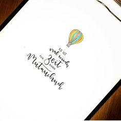 Letter Lovers fraeulein_kalt: Handlettering Spruch: Es ist mal wieder Zeit für einen Mutausbruch.