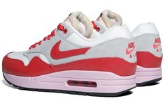 Nike WMNS Air Max 1   Hyper Red \u0026amp; Iced Carmine