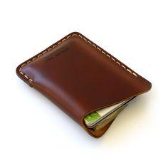 Minimal Wave Wallet in OxBlood-SR