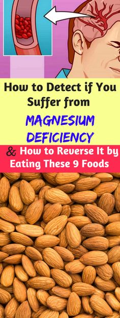 How to Detect if You Suffer from Magnesium Deficiency and How to Reverse It by Eating These 9 Foods - infacter