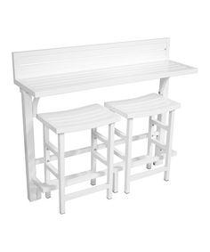 White Outdoor Balcony Bar Set