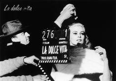 On the set of La dolce vita