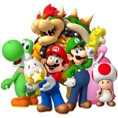 Super Mario Party, New Super Mario Bros, Super Mario Brothers, Super Smash Bros, Dragon Z, Dragon Super, Mario E Luigi, Mario Kart, Mario Wii
