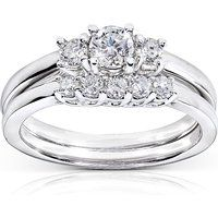 Kobelli 14k White Gold 0.5 cttw Diamond Wedding Ring Set$700More details