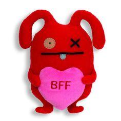 """Gund Ugly Valentines Heart BFF Ox Little 8.6"""" Plush #GUND"""