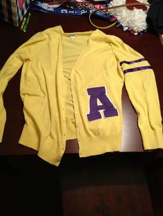 I'm going as Andy Carmichael (The Goonies) for Halloween this year. Here's the homemade letterman sweater result!