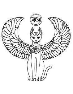 egyptian-cat-tattoo.jpg (612×792)
