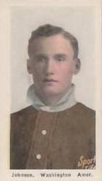 1910-11 Sporting Life M116 #127 Walter Johnson Front
