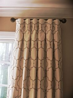 Pleated Curtains, Curtains With Blinds, Panel Curtains, Window Drapes, Window Treatments Living Room, Custom Window Treatments, Short Curtain Rods, Cottage Curtains, Bedroom Curtains
