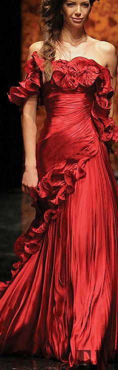 Randa Salamoun - red gown -