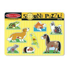 Melissa and Doug Pets Sound Puzzle, Multicolor
