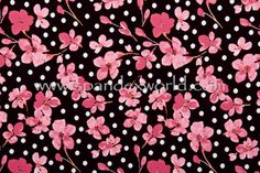 Floral Prints (Black/Pink/Multi) Spandex World Product ID # 13896 Cherry Blossom -Sakura custom